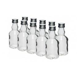 50 ml stikla pudele ar skrūvējamu vāciņu - 10 gab.
