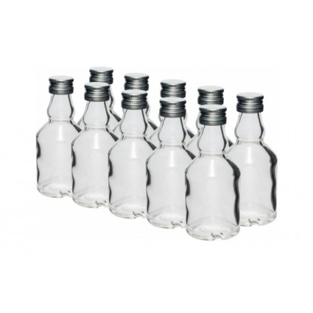 Glass bottle 50ml with screw cap 10pcs.