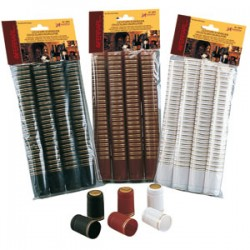 Thermocapsules (white with gold stripe) for wine bottles (33x55mm) 100pcs.