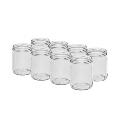 Glass jar 500ml (8pcs) with thread