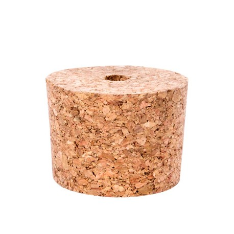 Conical natural cork 45/37mm with hole 8mm