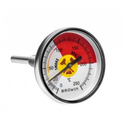 Thermometer for smokehouse and bbq 0?C+250?C 6cm