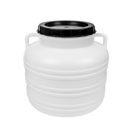 Plastic barrel with a screw-on lid and handles, 40L