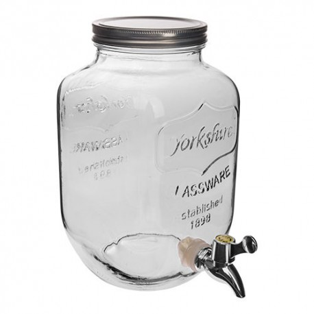 Decorative glass jar 4 L with tap