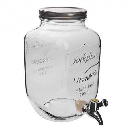 Dekoratiivsed klaasist purk limonaadi koos puuduta 4L