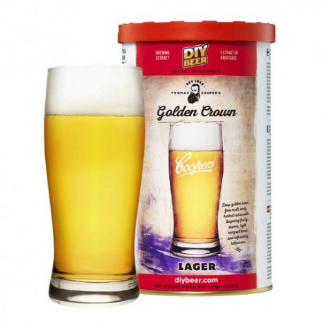 Beer kit Thomas Coopers Golden Crown Lager for 23L