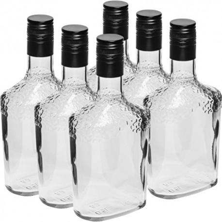Safari glass bottle 500ml (6 pcs.) with a metal cap