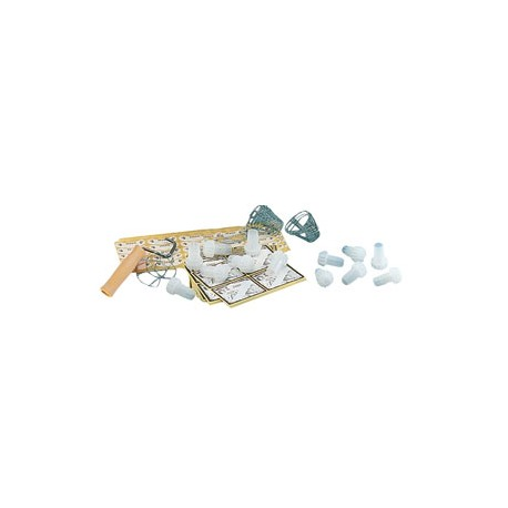 Champagne corks, muselets, labels 100pcs. and device for muselets closing 1 pcs.