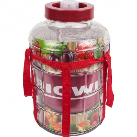 Universal glass jar with plastic cap 8L