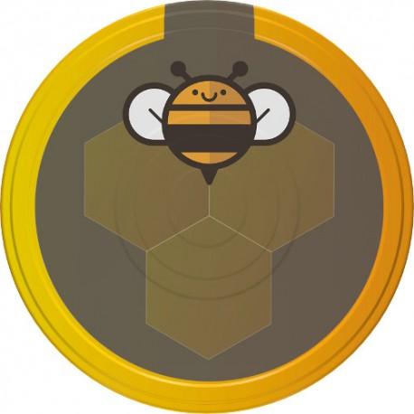 Screw cap for jars ?d82, black bee