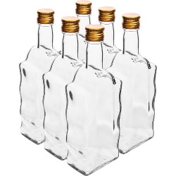 Glass bottle 500ml with cork Ø28mm (6 pcs.)