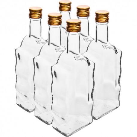 Glasflasche 500ml mit Verschluss 28mm (6 Stk.)