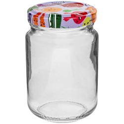 Glass jar 156ml with thread and cap ?53mm (6 pcs.)