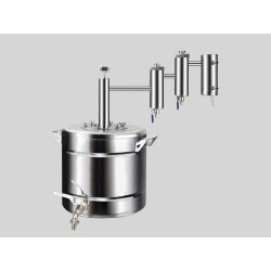 Distiller Lokomotiv 20L from stainless steel