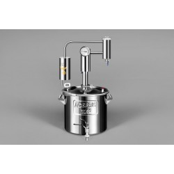 Distiller Triumfs 15L from stainless steel with outlet for heating element