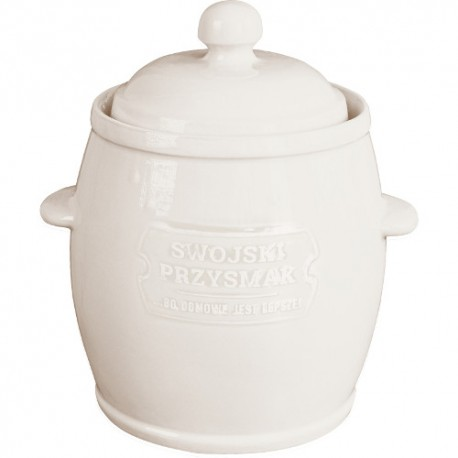 Ceramic barrel with lid and water seal 4.5L