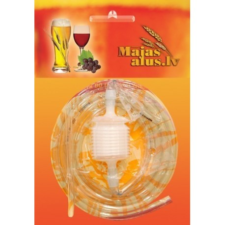 Hose for drinks transfusion with locking mechanism