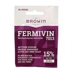 Yeast for wine FERMIVIN (dry) red, white wines 14% 7g