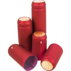 Raudoni dangteliai su perforacija Ø31x55mm 100 vnt.