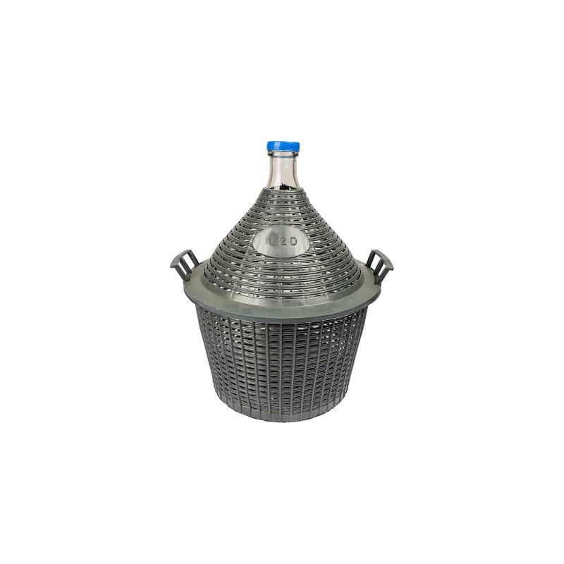 Demijohn in plastic basket 20L