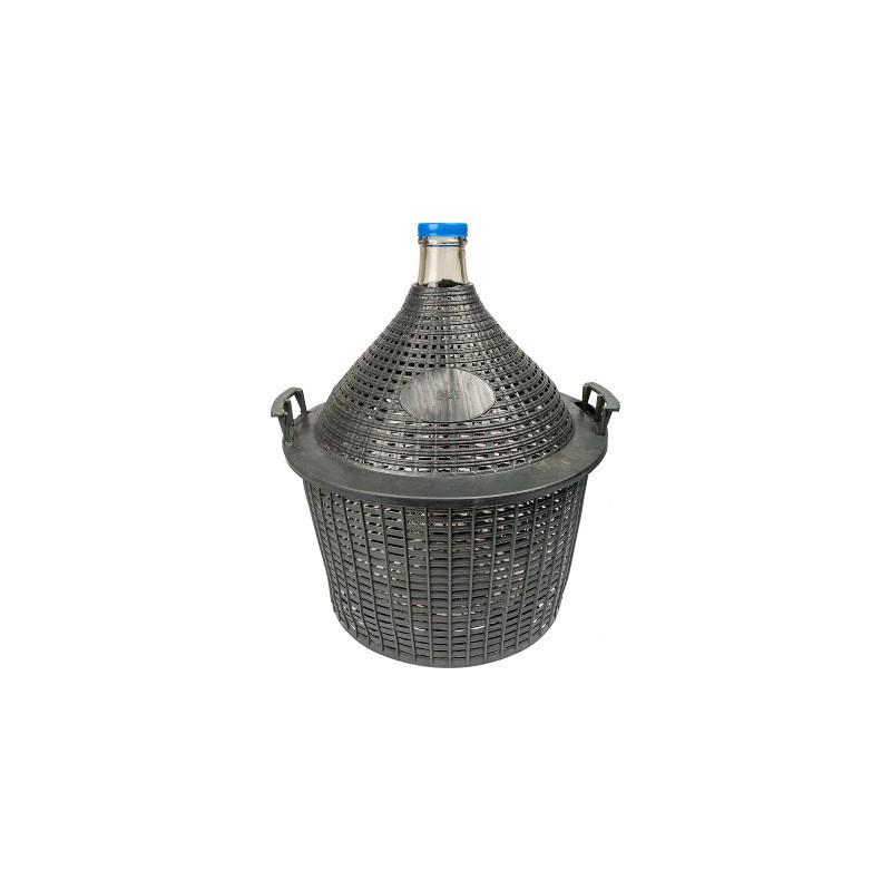 Demijohn in plastic basket 25L