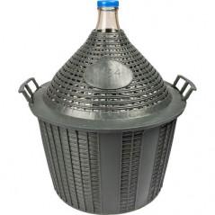 Demijohn in plastic basket 34L