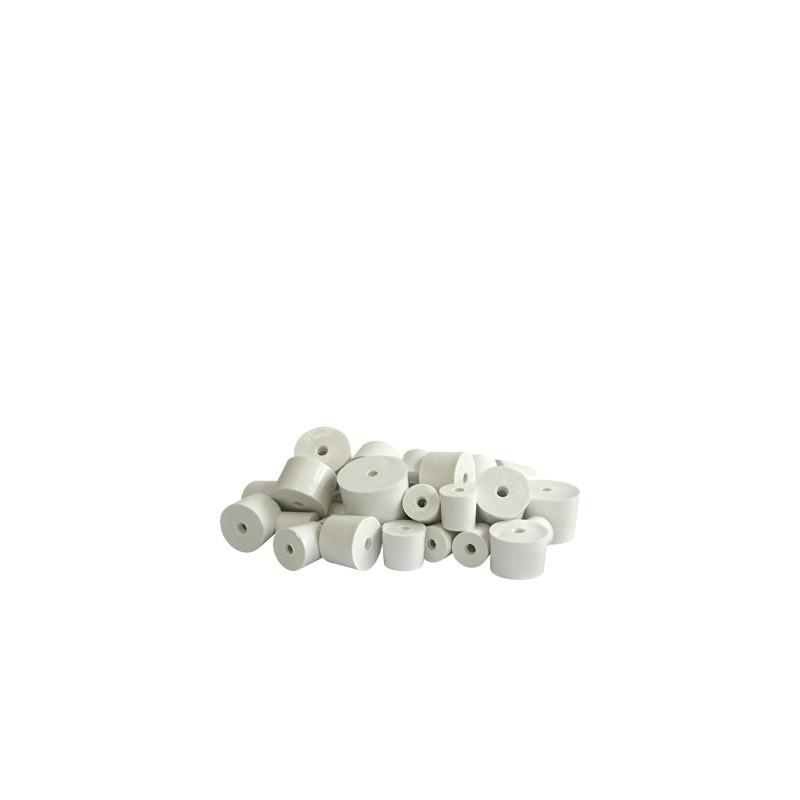 Cilindriskais gumijas korķis balonam Ø28/26 mm ar caurumu