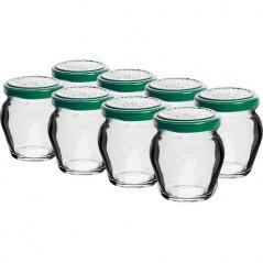 106 ml stikla burka (AMPHORA) ar skrūvējamu vāciņu Ø 53 - 8 gab