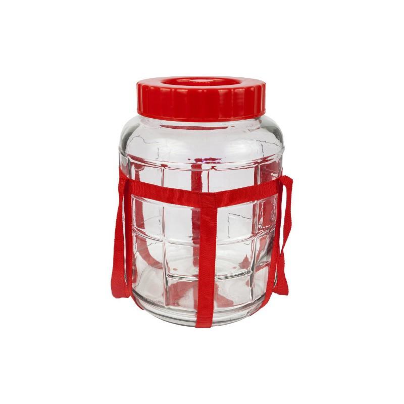 Universāla stikla burka 5L ar vāku un hidroaizvaru priekš raudzēšanas