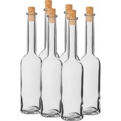 100 ml stikla pudele tinktūrām ar korķi 14/10 mm 6 gab.