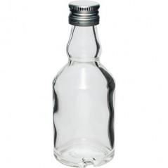 Бутылка стеклянная 50 мл с винтовой крышкой - 10 шт.