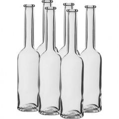 200 ml stikla pudele tinktūrām ar korķi 23/18 mm 6 gab.
