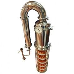 """Destilācijas aparāta galva ar stikla kolonnu 8"""" - 6 līmeņi"""