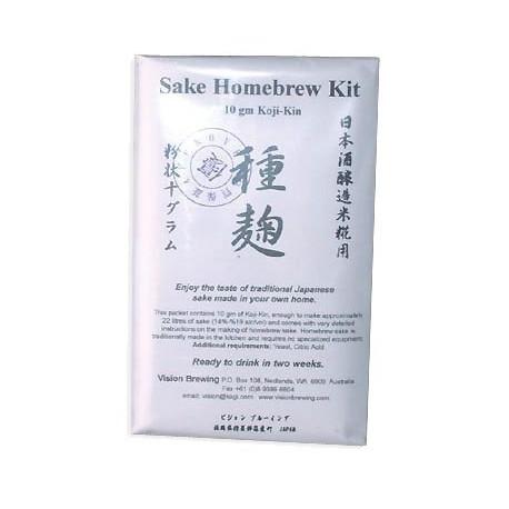 Koji-Kin sausā kultūra Sake dzēriena pagatavošanai 10 g uz 22 litriem