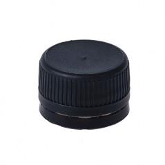Juodas kamštis PET buteliams Ø28mm