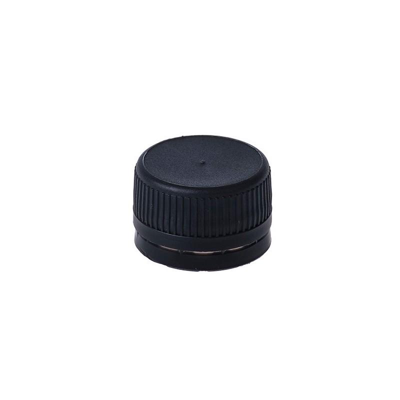 Schwarzer Stopfen für PET-Flaschen Ø28mm