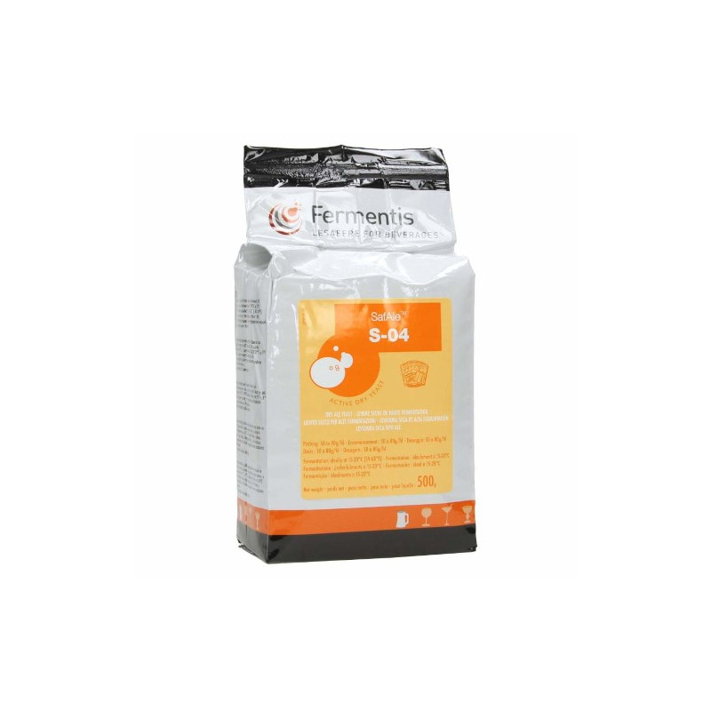 Dried brewing yeast SAFALE S-04 500g