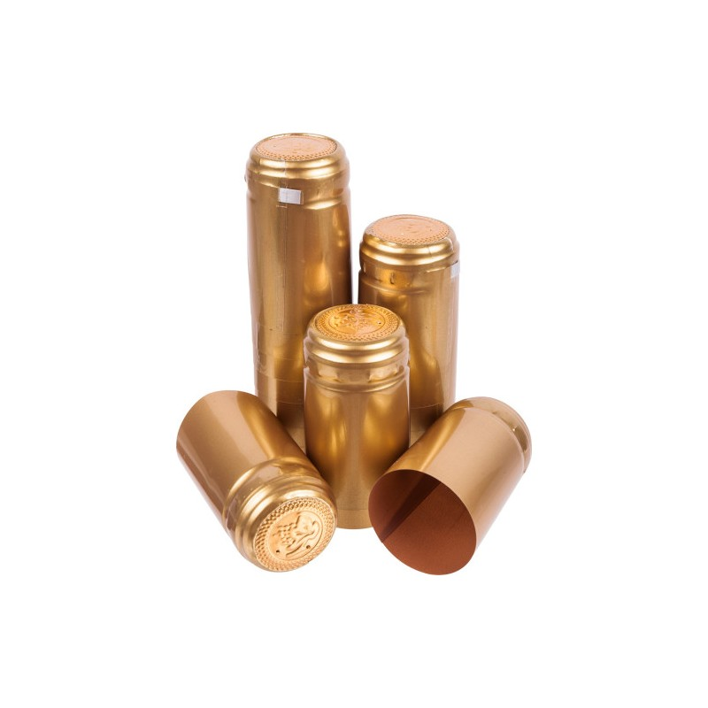 Caps for wine bottles (gold, with tear - off top) 100pcs.