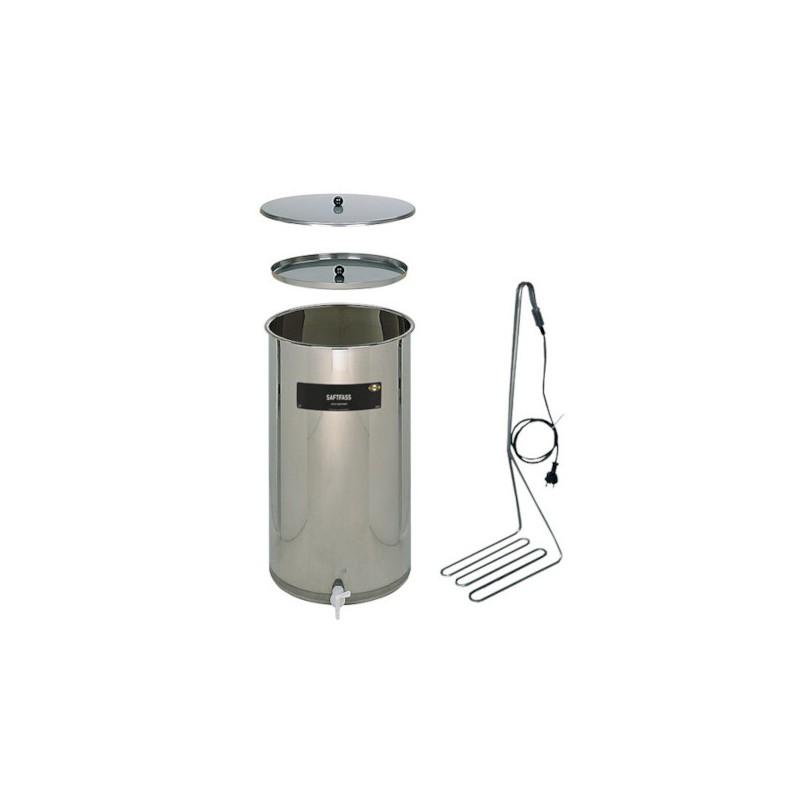 Komplekts sulas pasterizēšanai un uzglabāšanai - 65L tvertne ar sildītāju