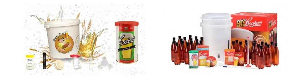 Starter kits for beer and cider making