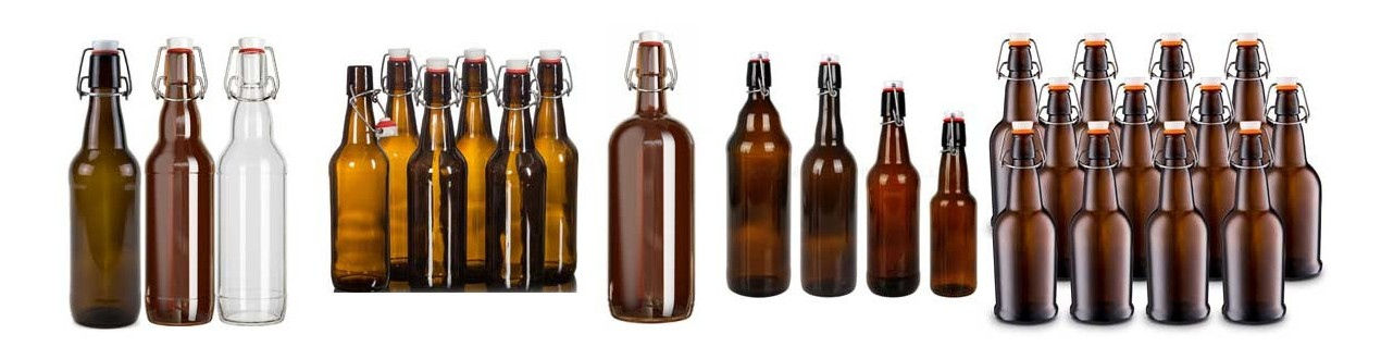 Swing top bottles and closures