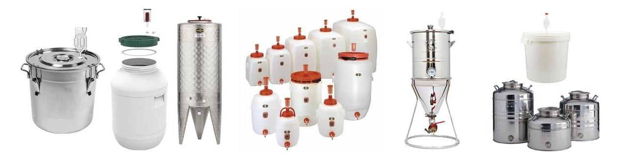 Fermentation and storage tanks