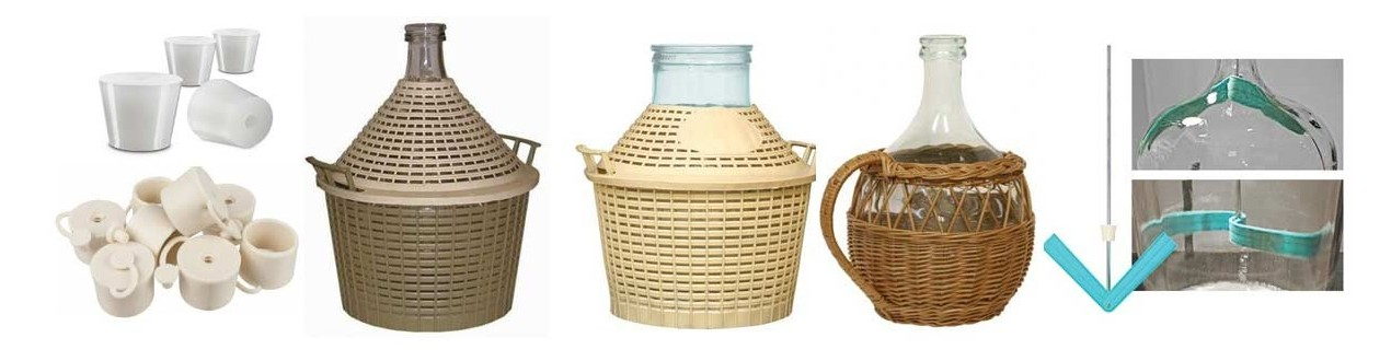 Demijohns, corks and accessories