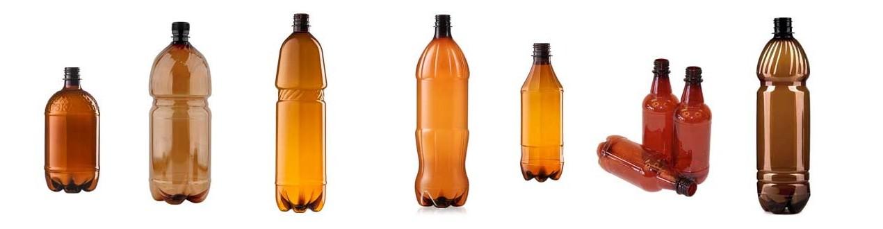 PET-Flaschen aus Plastik
