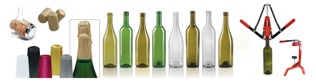 Weinflaschen, Korken, Verschlüsse und Stöpsel