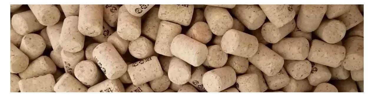 Gepresste Weinkorken