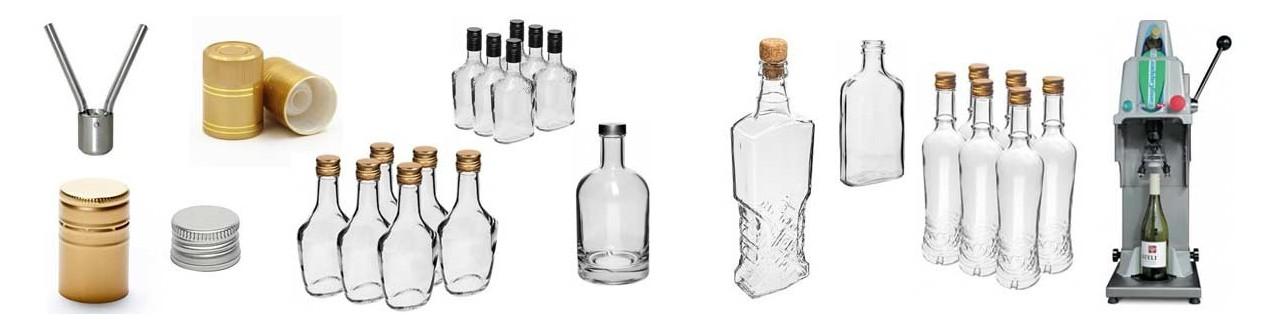 Flaschen, Stopfen und Verschlüsse