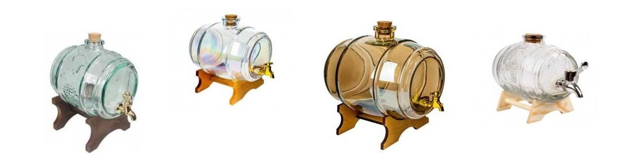 Decorative glass barrels