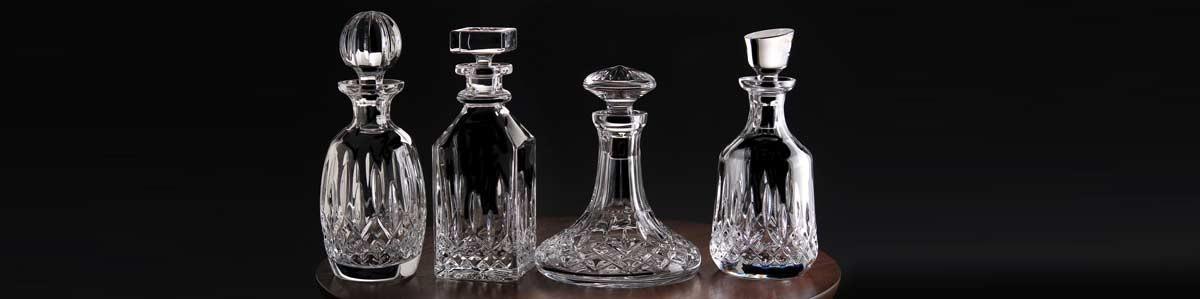 Decorative bottles, decanters