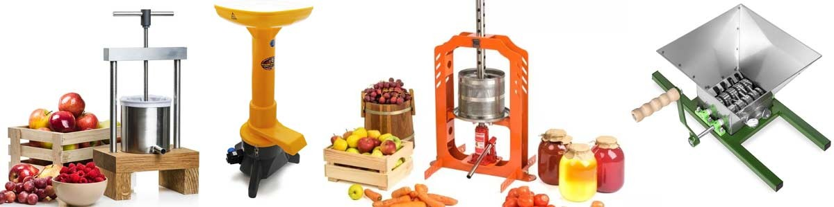 Fruit presses and crushers
